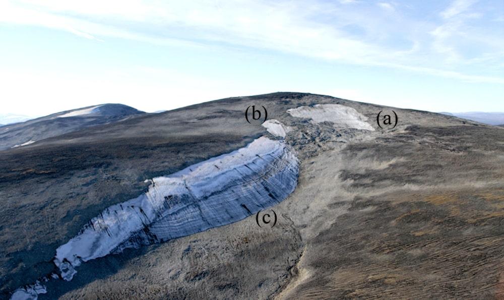 vue aerienne plaques glace langfonne