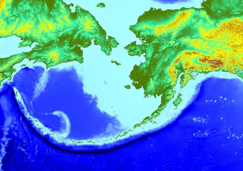 arc volcans îles aléoutiennes