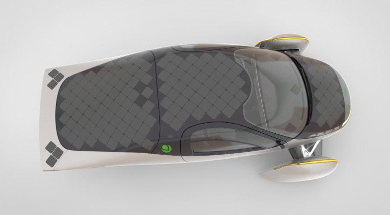capteurs solaires véhicule électrique aptera