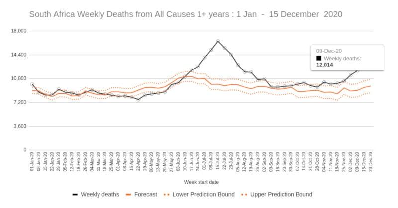 chiffres décès covid afrique sud