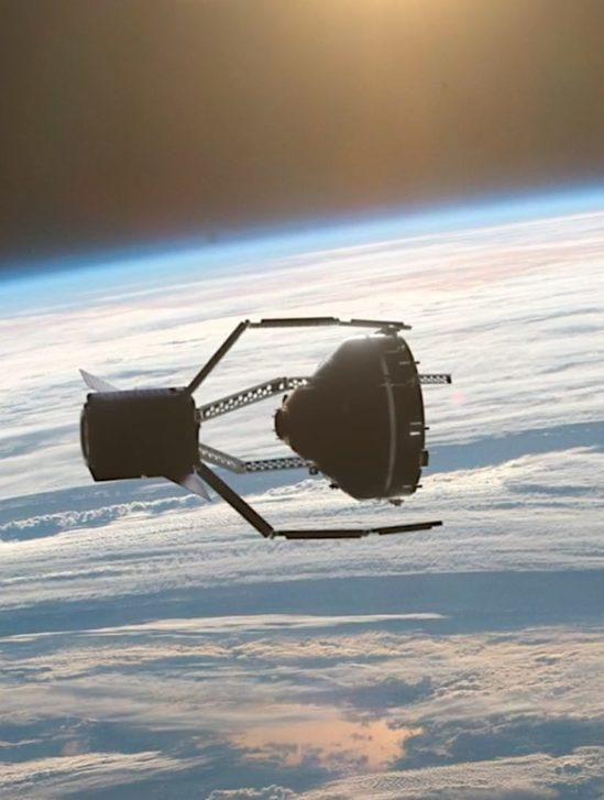 clearspace pince spatiale debris vue artiste