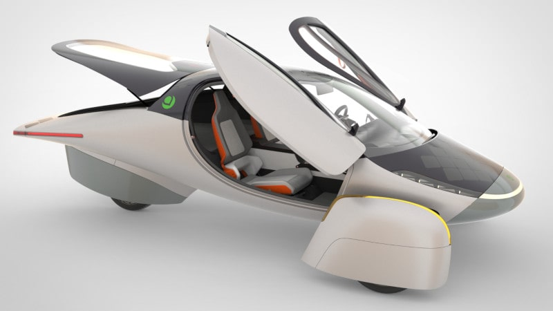 design véhicule électrique solaire aptera