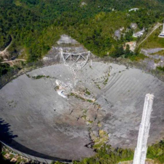 effondrement télescope Arecibo
