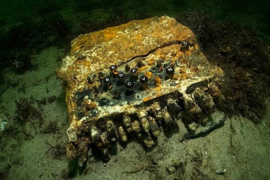 enigma machine codage nazi decouverte mer baltique