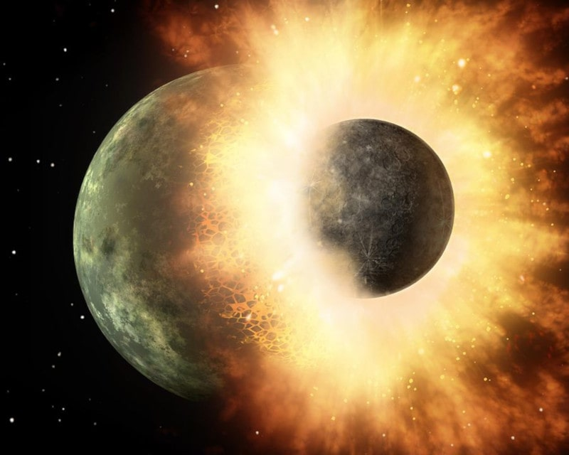 hypothèse impact géant terre lune