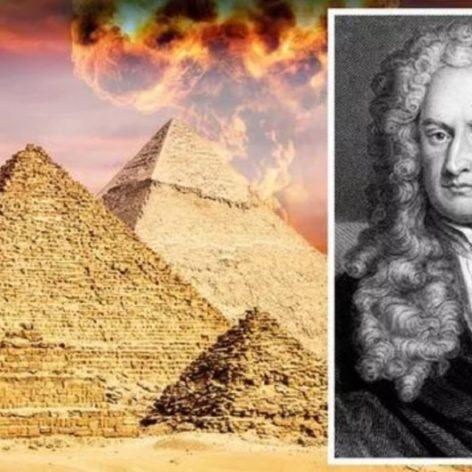 notes manuscrites isaac newton revelent obsession secret pyramides egyptes couv