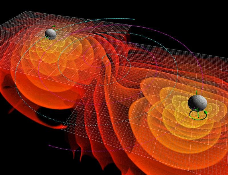 ondes gravitationnelles trous noirs fusion