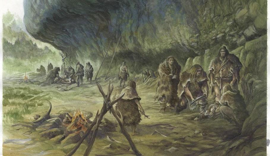 ossements enfant vieux 40000 ans resolvent mystere neandertal