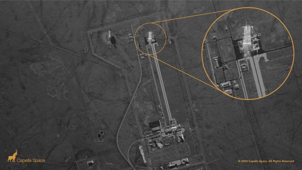 image radar rampe lancement chine
