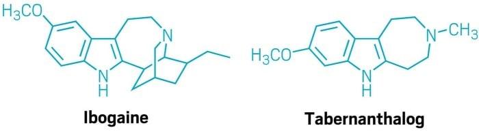 structure chimique ibogaine tabernanthalog