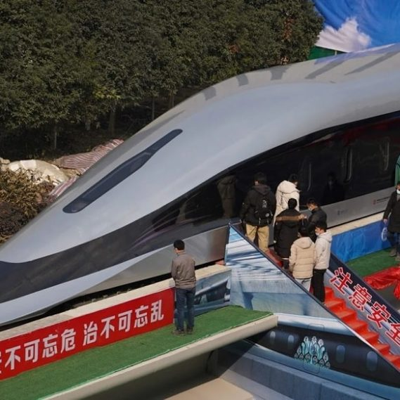 chine devoile prototype maglev ultrarapide