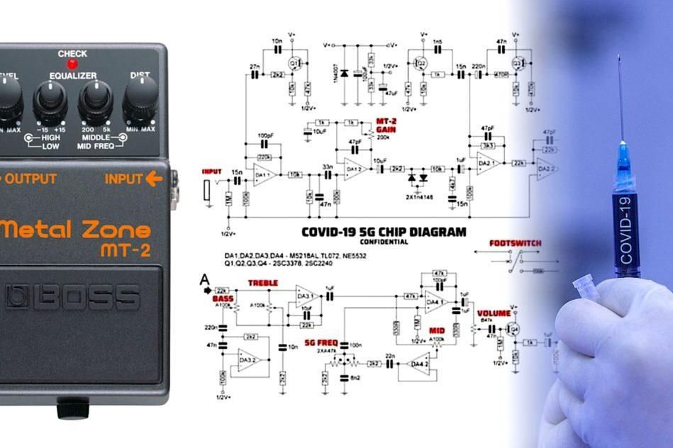 conspirations puce 5g schema electrique devenu viral pedale guitare electrique