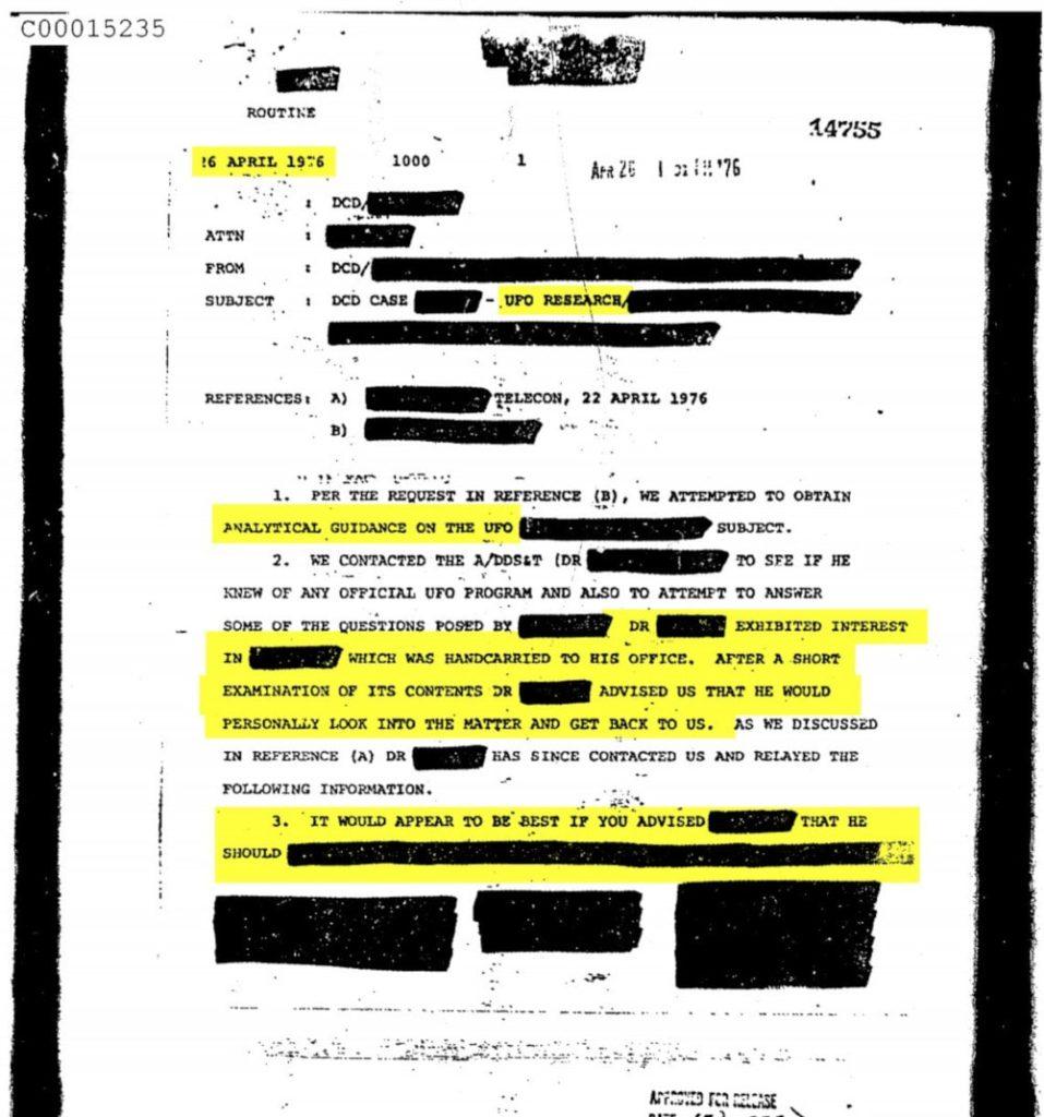 document OVNI CIA