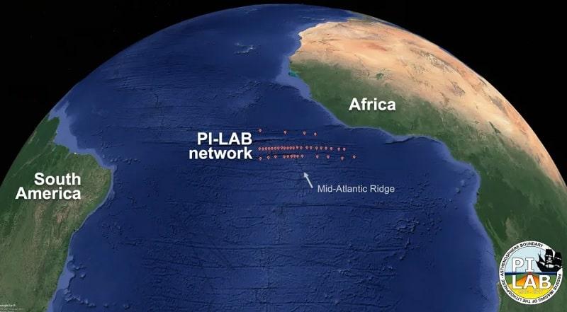 localisation sismometres ocean atlantique
