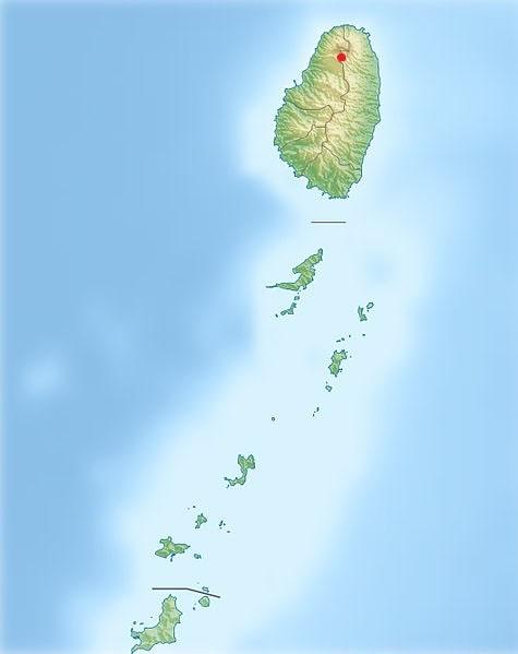 localisation soufriere volcan saint vincent