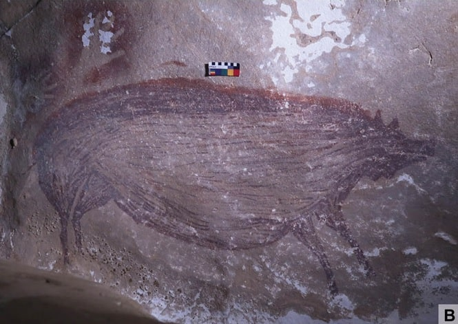 Una representación de un cerdo de las cavernas.