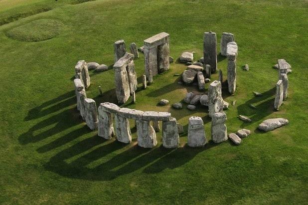 stonehenge vue dessus