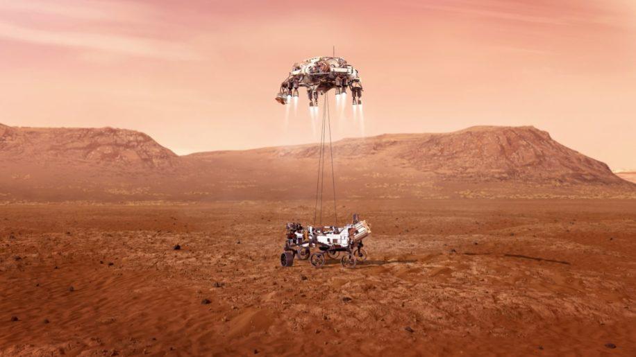 arrivée rover perseverance mars