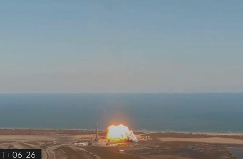 explosion prototype SN9 spaceX