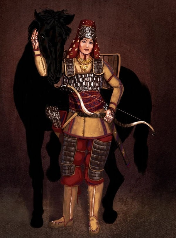 femme guerriere scythe