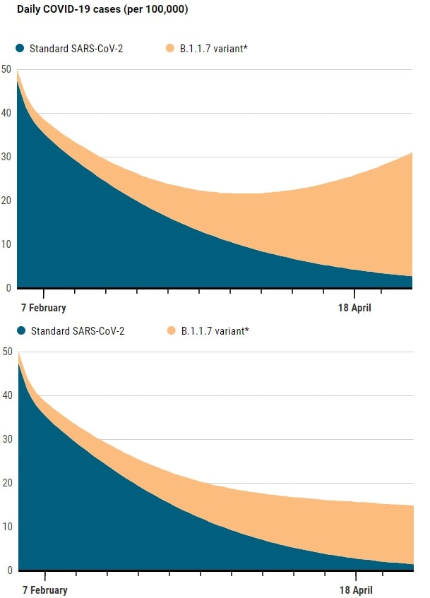 graphique evolution cas variant
