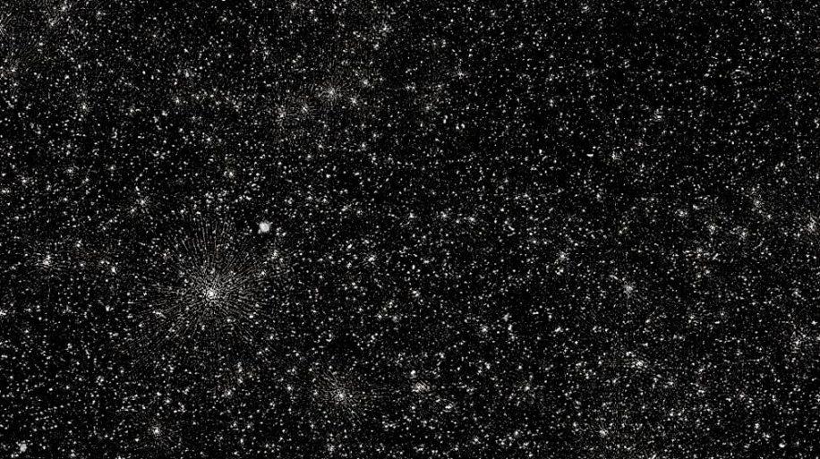 image trous noirs supermassifs points blancs