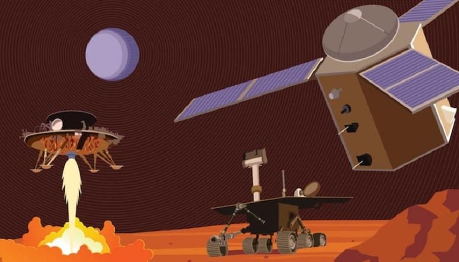 mars pourquoi trois missions spatiales deux semaines