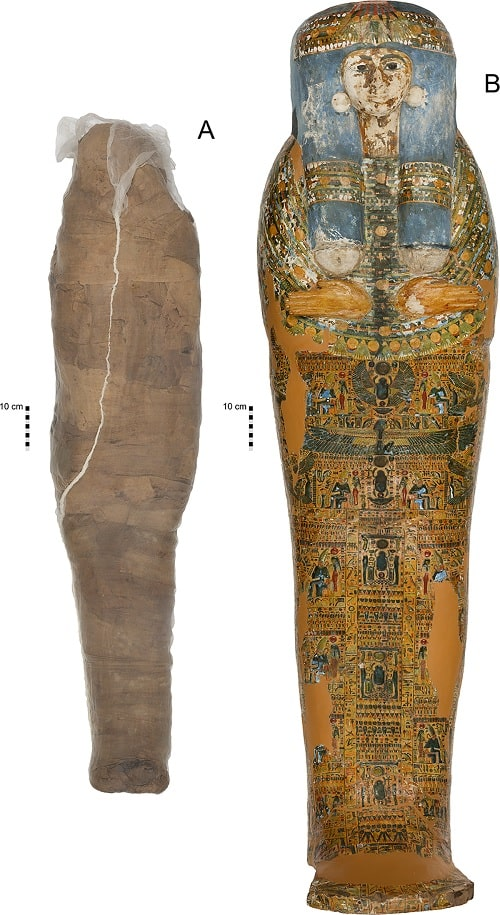 momie sarcophage enveloppe