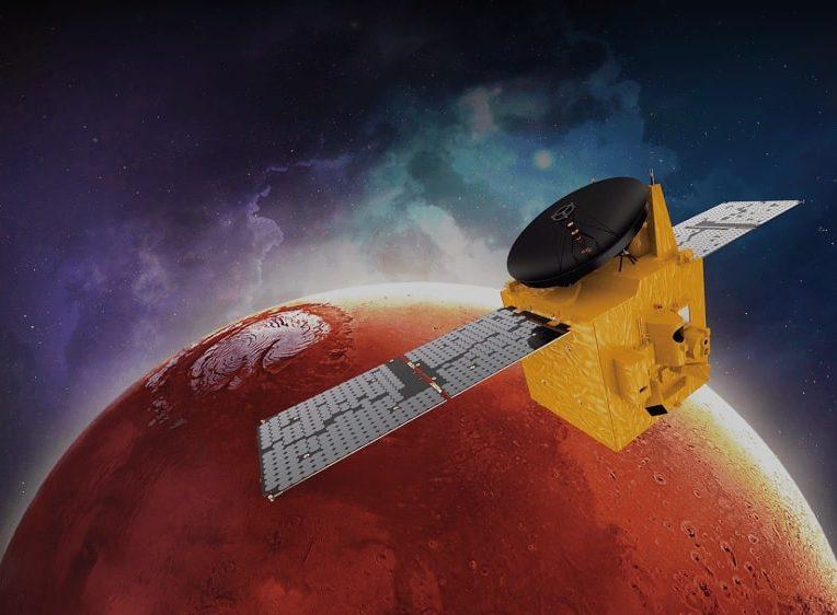 sonde spatiale hope placee succes orbite autour mars