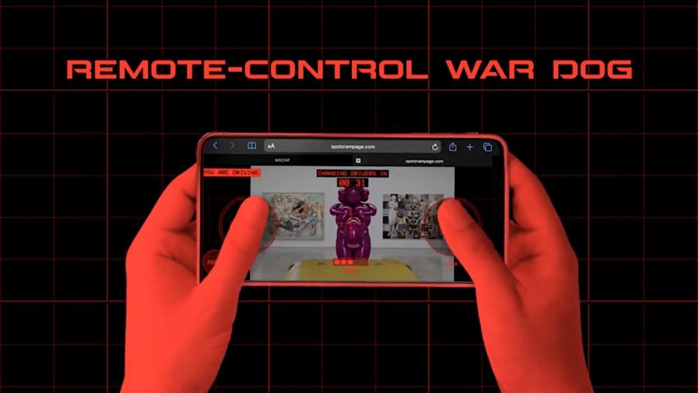 spot mini lanceur paintball smartphone