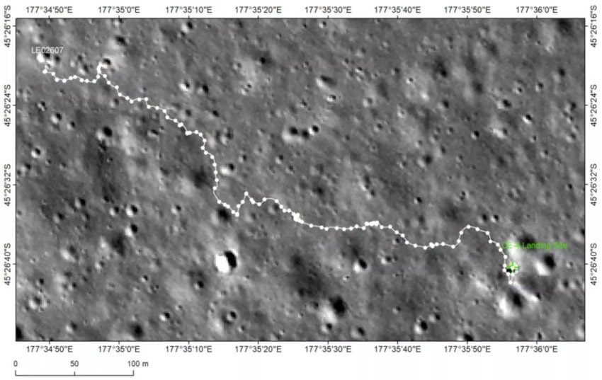 trajet rover lune yutu 2