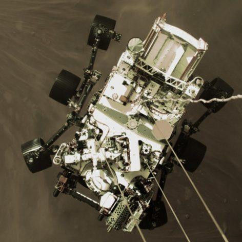vidéo atterrissage Perseverance Mars