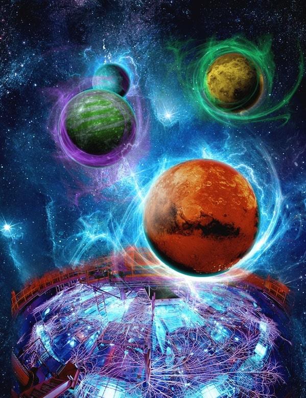 vue artiste exoplanetes champs magnetiques z machine