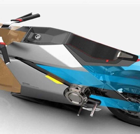 concept moto electrique purificateur air roues