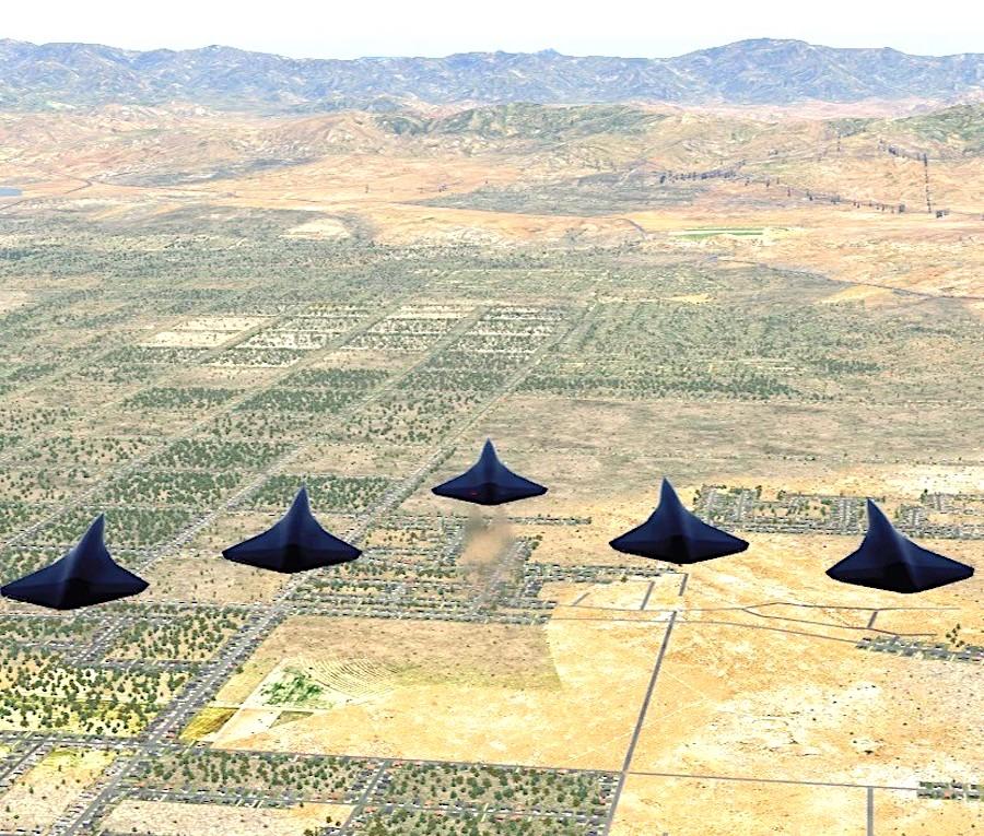 drones combat supersoniques arrow vol formation