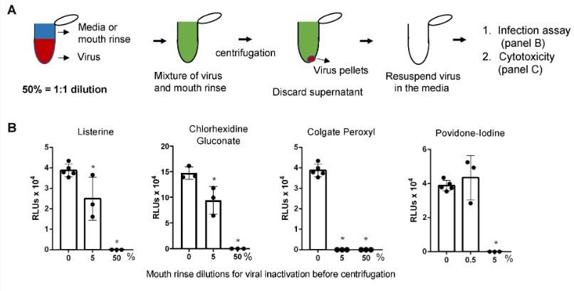 effet bains bouche virus