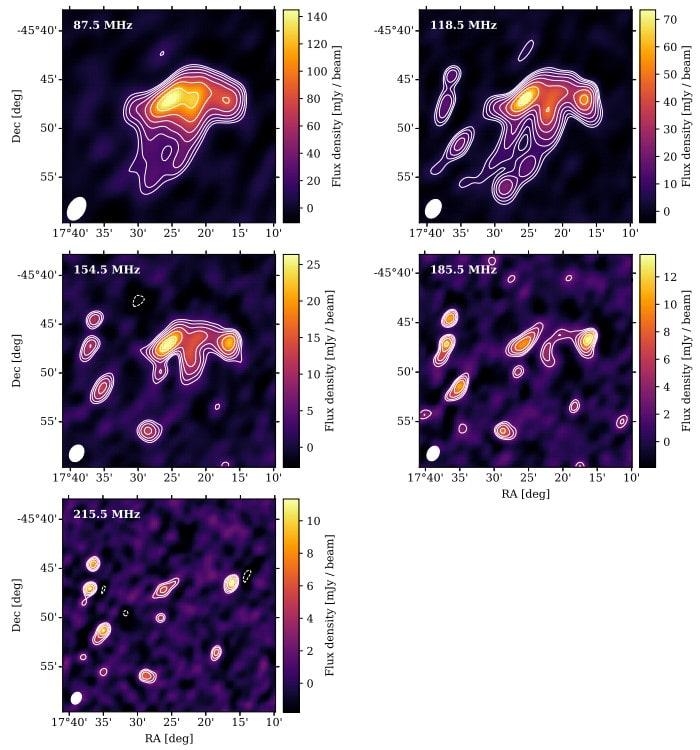 émissions galaxie méduse basses fréquences