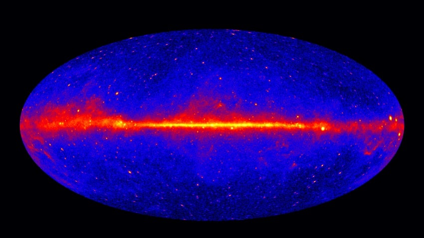 fermi emission rayonnement gamma intense centre galaxie