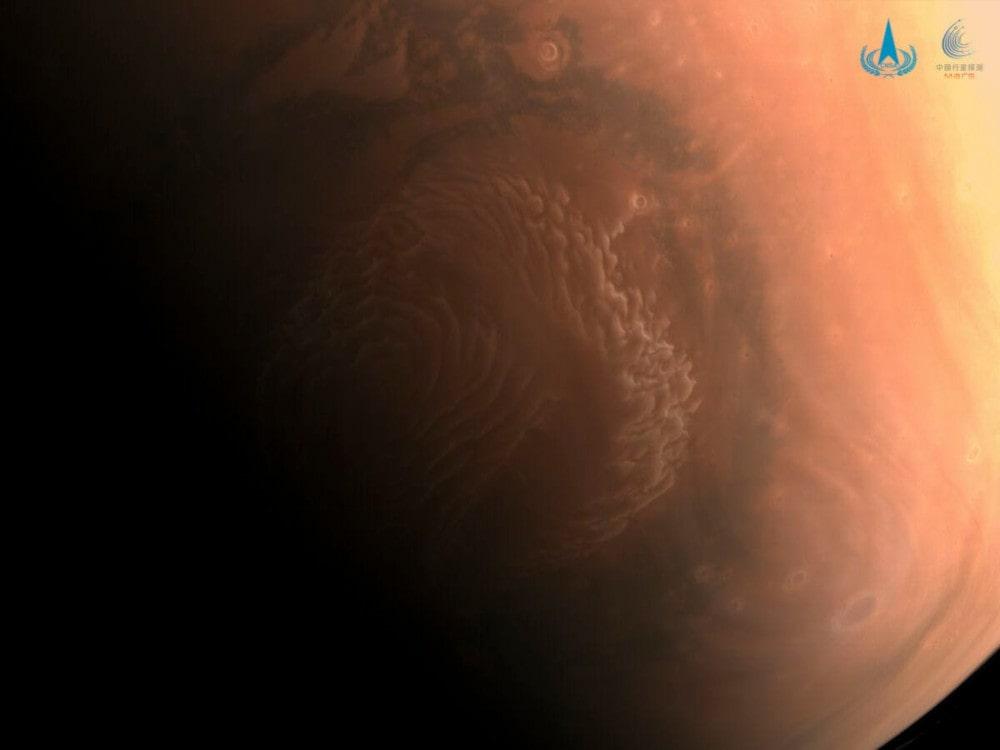 image pôle nord Mars