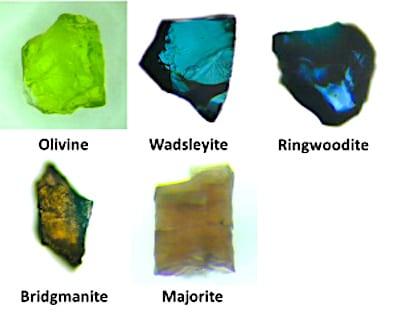 mineraux manteau terrestre olivine-wadsleyite ringwoodite