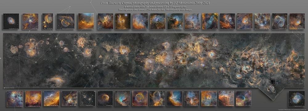 mosaique nebuleuses photo galaxie