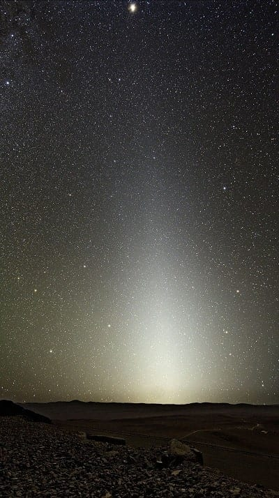photo lumiere zodiacale