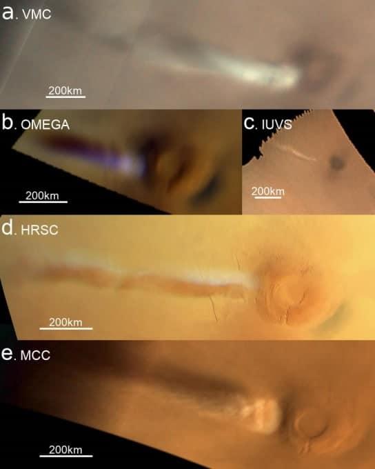 photos nuage mars instruments