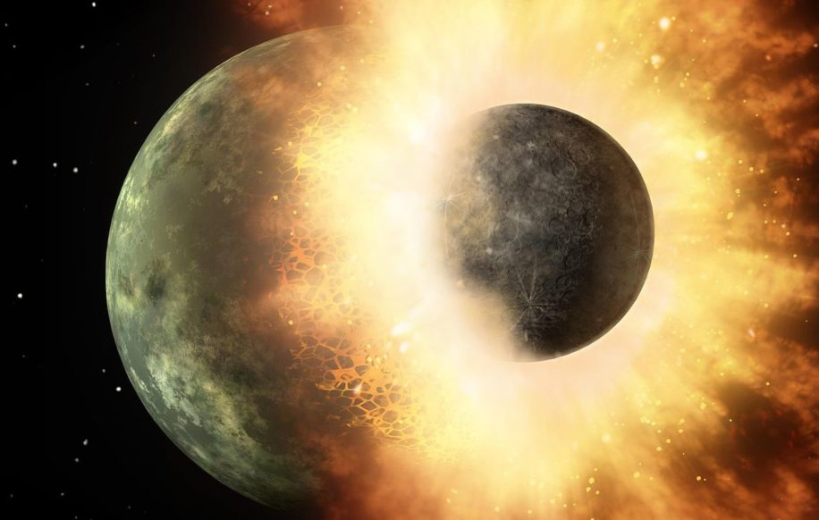 restes impact Théia Terre Lune
