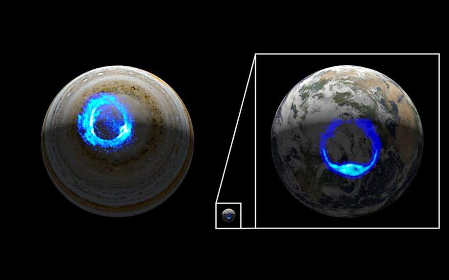 sonde juno nasa revele origines aurores polaires-jupiter