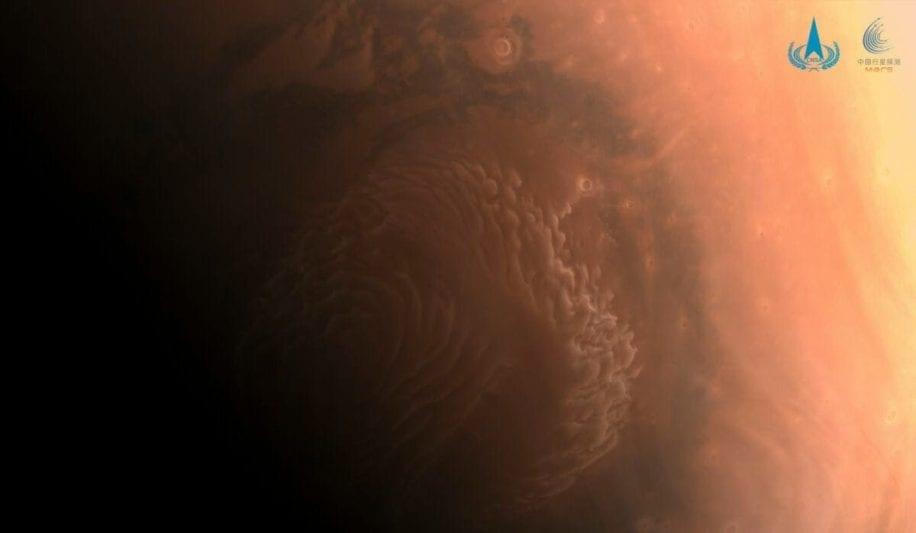 tempête pôle nord Mars
