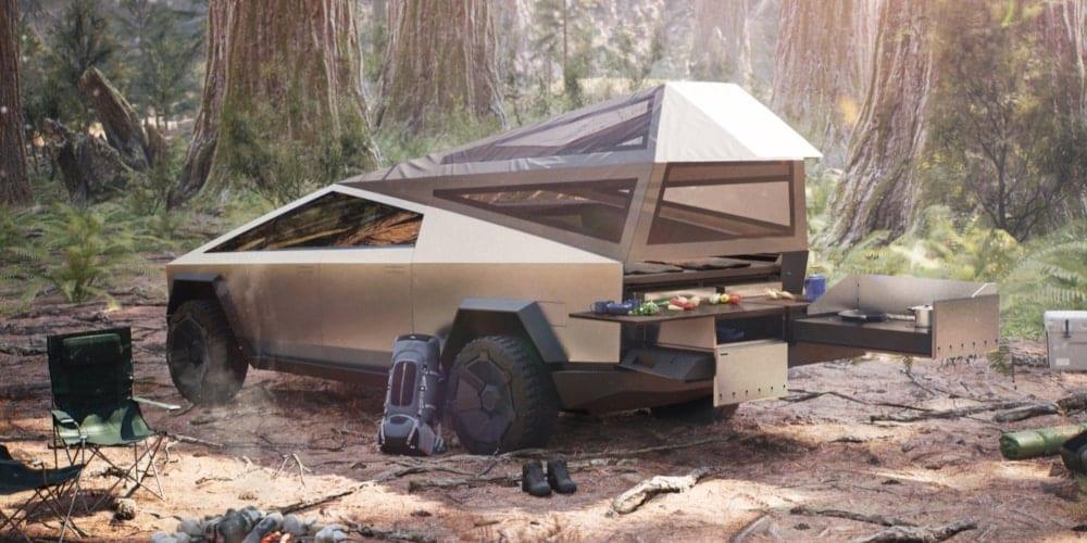 tesla cybertruck configuration camping