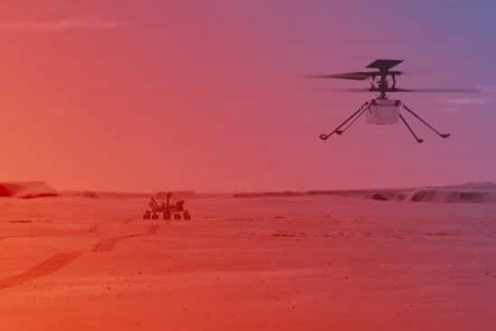 vol hélicoptère Ingenuity Mars