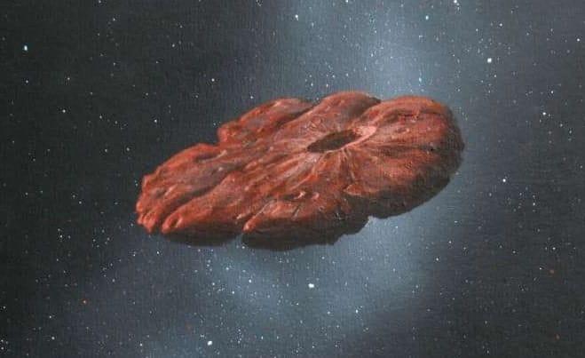 vue artiste oumuamua