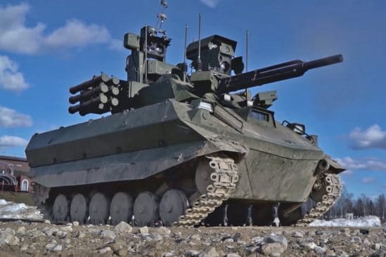 char combat autonome armée russe